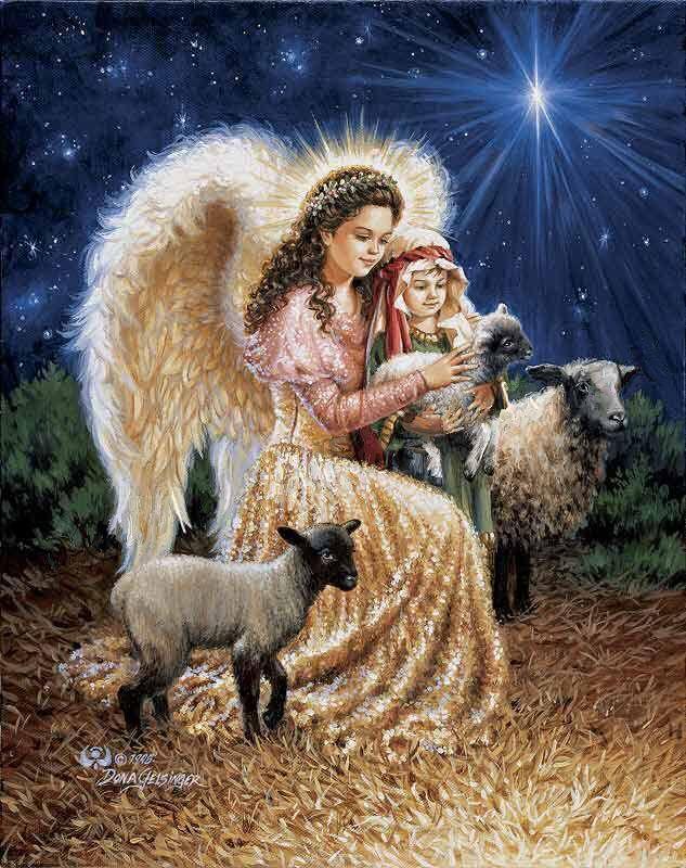 Открытки с рождеством ангелочки