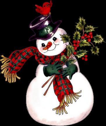 Bonhomme de neige avec une branche de houx - Decoration de noel avec du houx ...