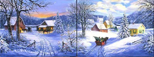 Noel belles images de linda piken - Paysage de noel gratuit ...