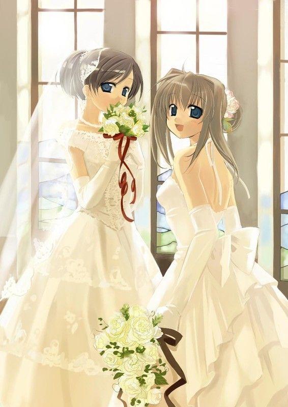 Mangas fille en mariée avec son amie 133