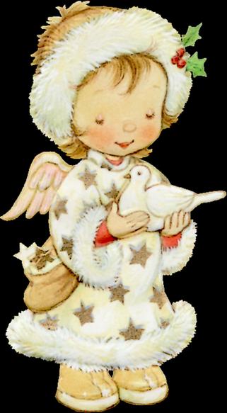 ange avec une colombe à Noël 18
