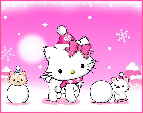 Hello kitty la neige no l - Hello kitty noel ...