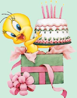 Titi avec une g teau d 39 anniversaire - Image gateau anniversaire humour ...