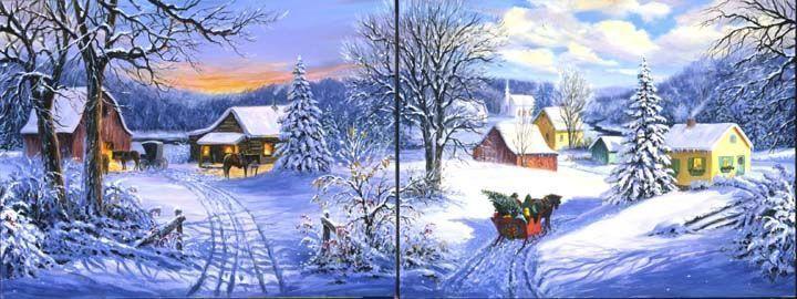 Paysage Enneigé à Noël