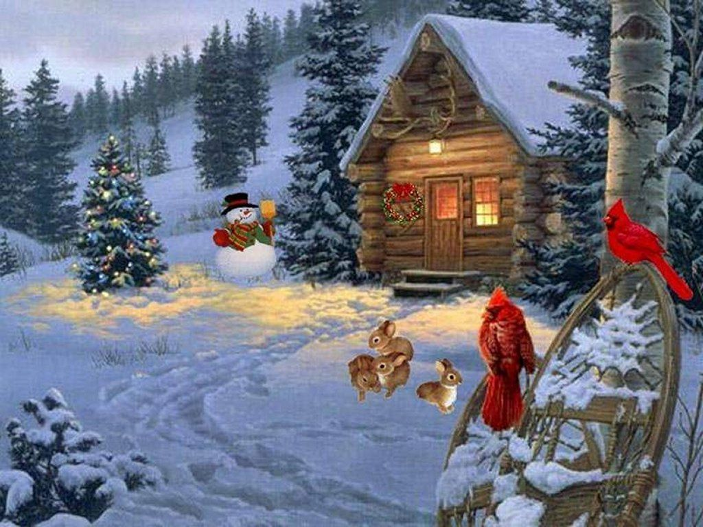 wallpapers noel paysage christmas - photo #39