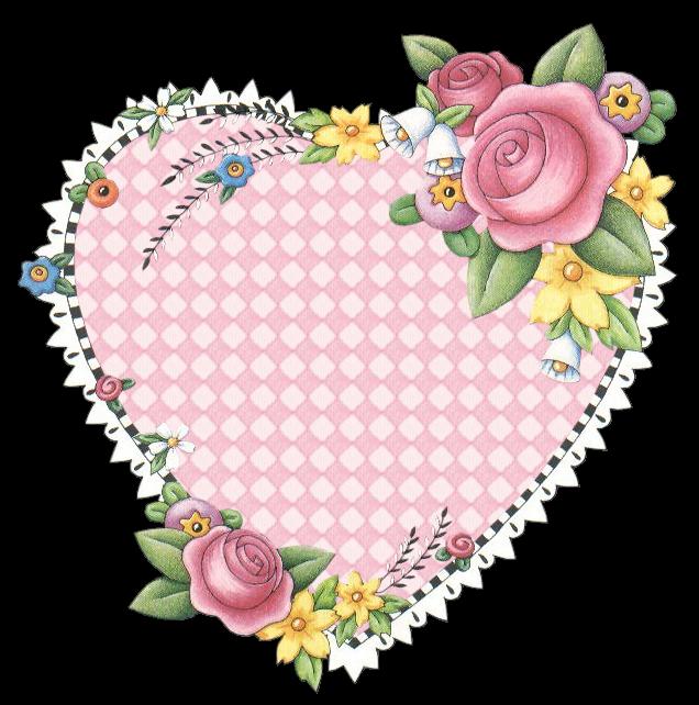 Coeur avec des fleurs - Coeur avec des fleurs ...